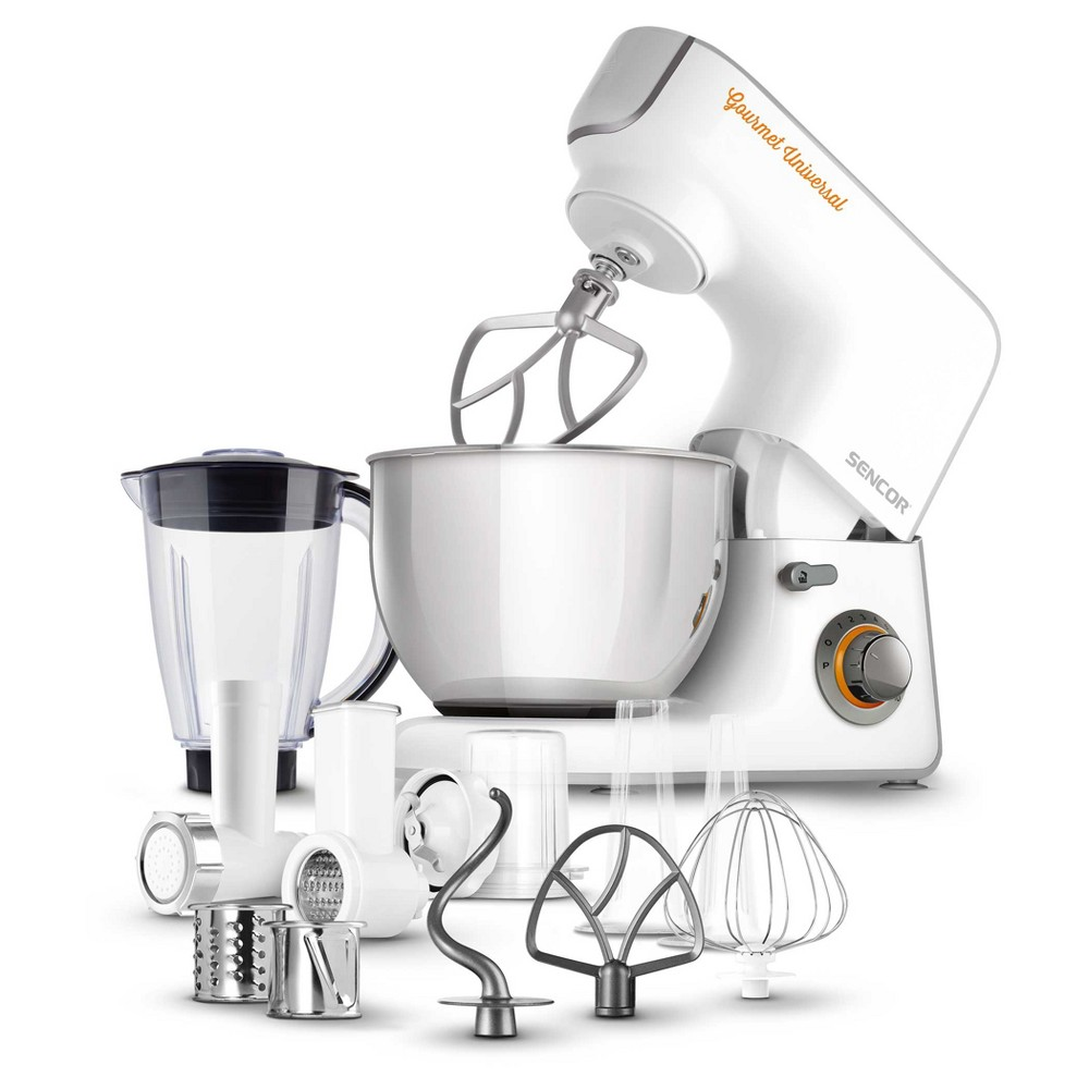Sencor 5.8qt Stand Mixer with Accessories – White 54290844