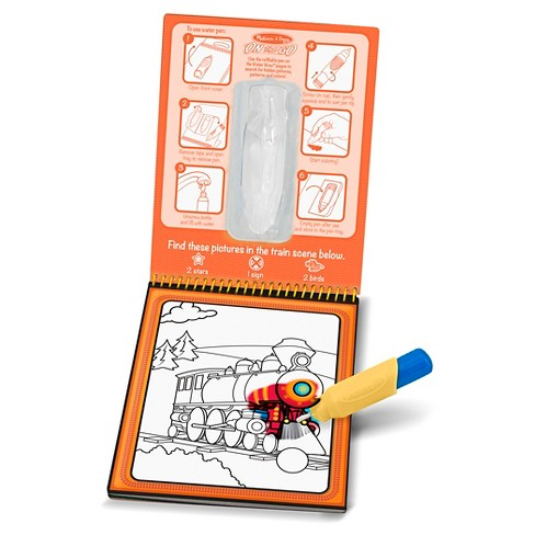 Alphabet Vehicles Reusable Water Reveal Coloring Books