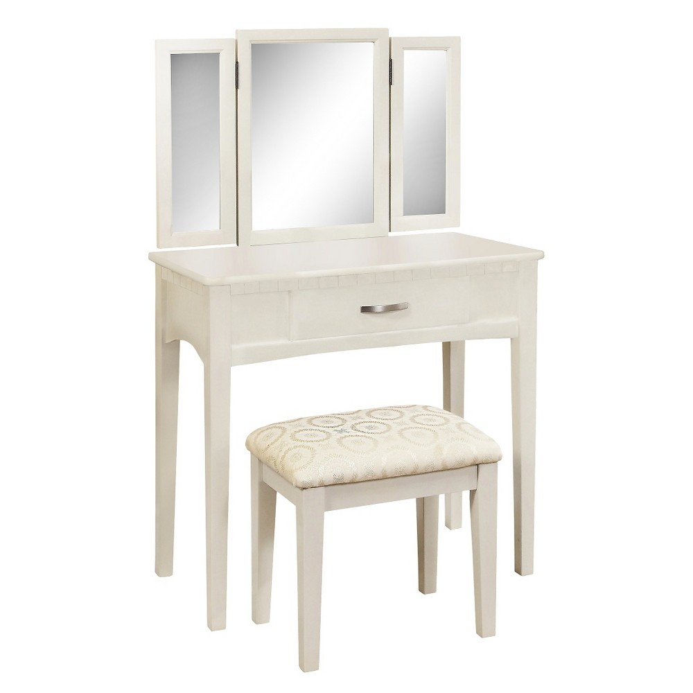 Sun & Pine Vanity Set - White, Winter White
