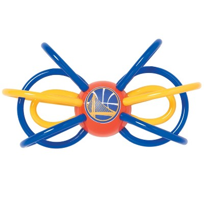 Manhattan Toy Company Golden State Warriors Winkel Rattle and Teether Officially Licensed NBA Baby Toy