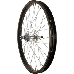 """and 36 Spokes with Nuts Solid Axle Sta-Tru Front Wheel 20/"""" Black Steel Rim"""