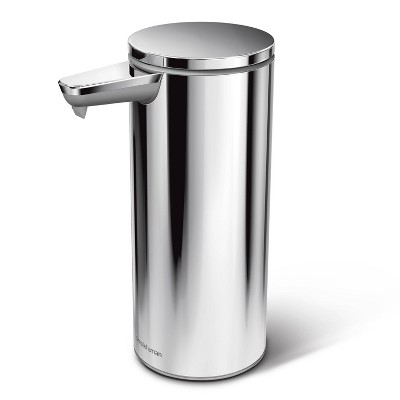 simplehuman 9oz Rechargeable Stainless Steel Sensor Pump Polished Silver
