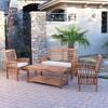 4pc Acacia Wood Patio Conversation Set w/ Cushions - Saracina Home - image 2 of 4
