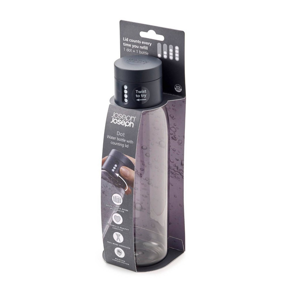 Image of Joseph Joseph 20oz Dot Hydration Tracking Water Bottle Gray