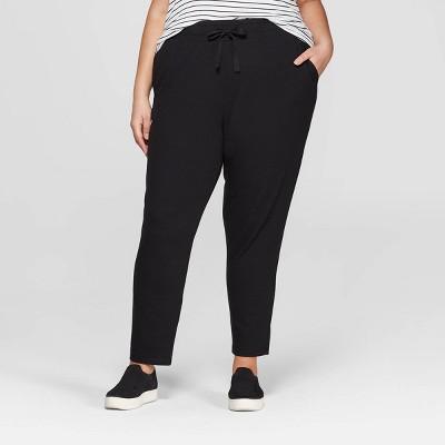 fd55ec999ed7 Women s Plus Size Knit Jogger Pants - Ava ...