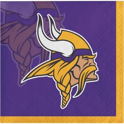 48ct Minnesota Vikings Football Beverage Napkins