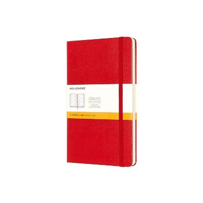Moleskine Lined Professional Journal Large Red Hard Classic