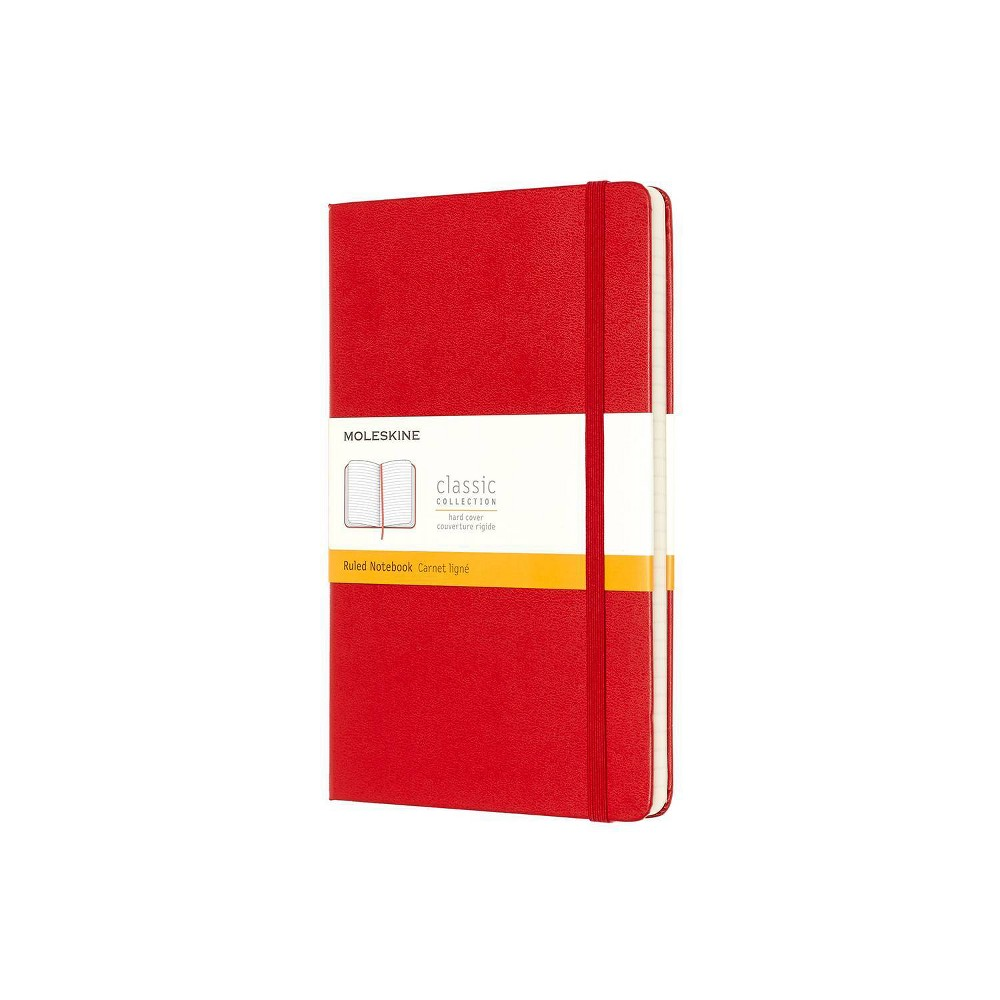 Image of Moleskine Lined Professional Journal Large Red Hard Classic