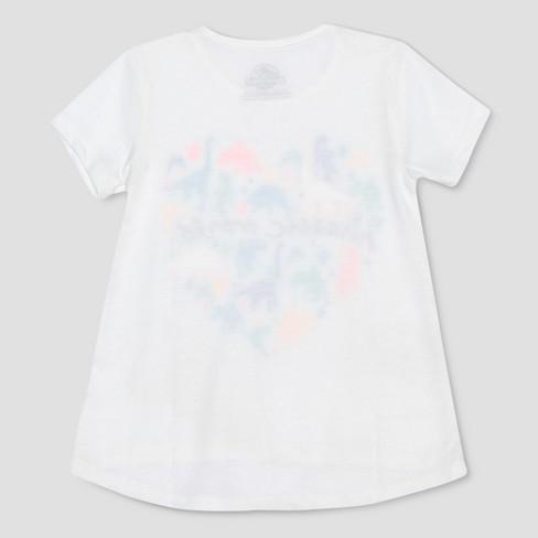 cb1c2906 Toddler Girls' Jurassic World 2 Short Sleeve T-Shirt - White 4T : Target