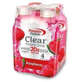 Premier Protein Clear 20g Protein Drink - Raspberry - 16.9 fl oz/4pk Bottles