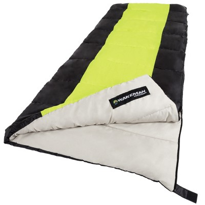 Wakeman 2-Season Sleeping Bag With Carrying Bag For Adults And Kids - Green