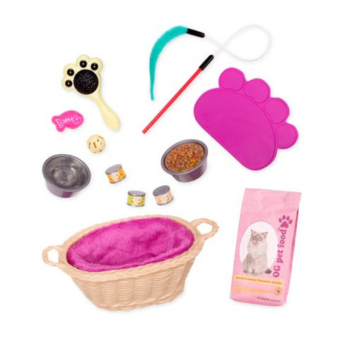 """Our Generation Cat Pet Plush Care Accessory Set for 18"""" Dolls - image 1 of 4"""