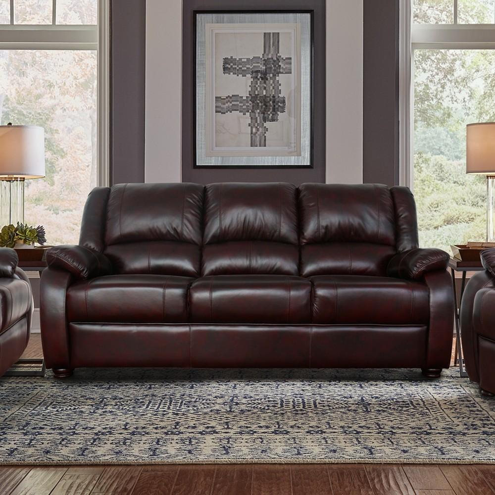 Barron Sofa Dark Brown - Lifestyle Solutions, Espresso Brown