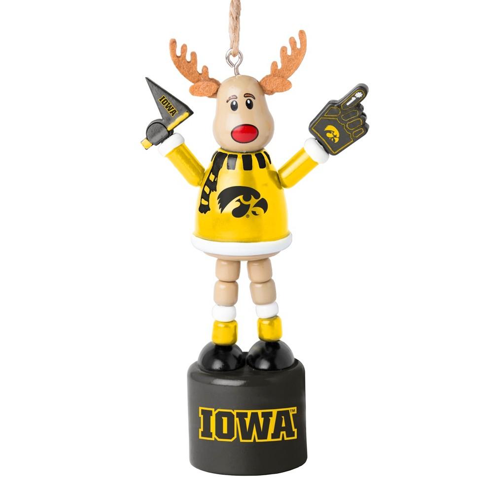 NCAA Iowa Hawkeyes Reindeer Ornament