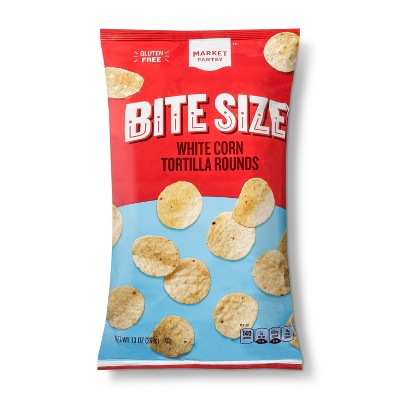 White Corn Tortilla Rounds Bite Size - 13oz - Market Pantry™