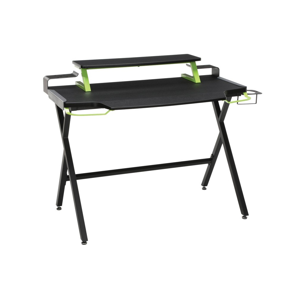 Image of 1000 Gaming Computer Desk Green - RESPAWN