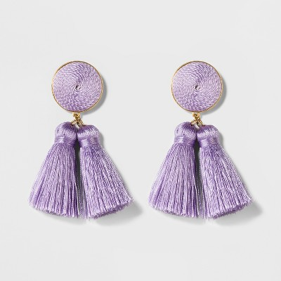 SUGARFIX by BaubleBar Miniature Tassel Drop Earrings – Lilac