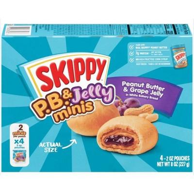Skippy P.B. & Jelly Frozen Peanut Butter and Grape Jelly Minis- 8oz/4pk