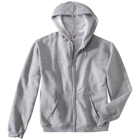 501102da50 Hanes® Premium Men s Fleece Zip-Up Hooded Sweatshirt - Gray L   Target