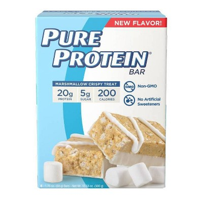 Pure Protein Bar - Marshmallow Crispy Treat - 6ct