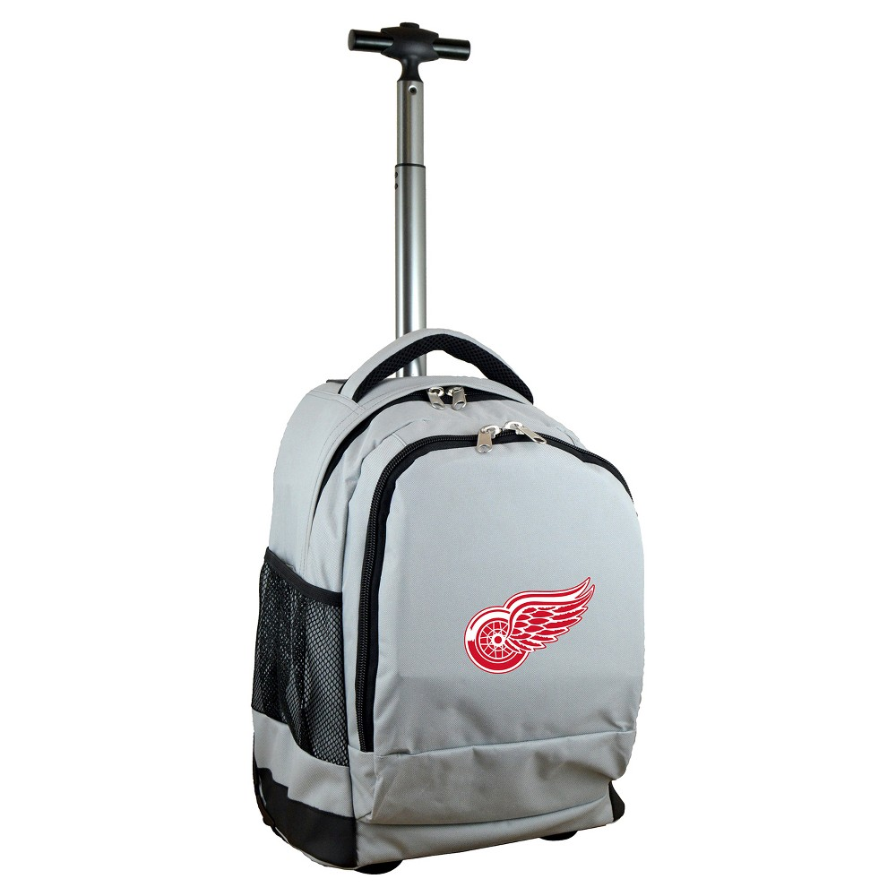 NHL Detroit Red Wings Mojo Wheeled Backpack - Gray