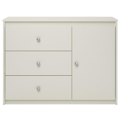 Cody 3 Drawer Storage Organizer With Door White - Room & Joy