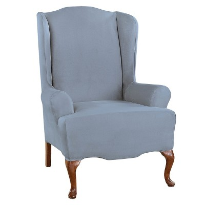 Ultimate Stretch Suede Wing Chair Slipcover - Sure Fit