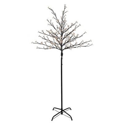 Northlight 6' Prelit LED Cherry Blossom Flower Tree Warm White Lights
