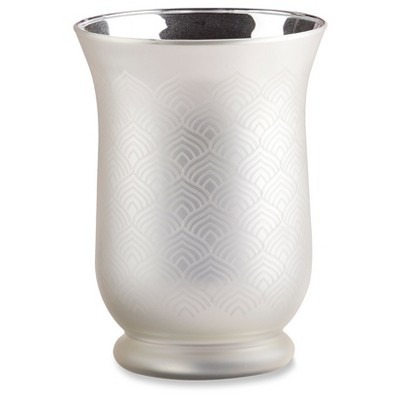2ct Kate Aspen Champagne Frosted and Etched Vase
