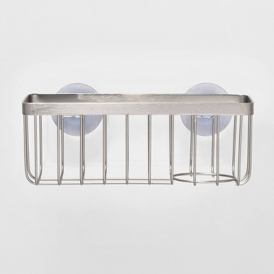 Stainless Steel Large Suction Sink Caddy Silver - Made By Design™
