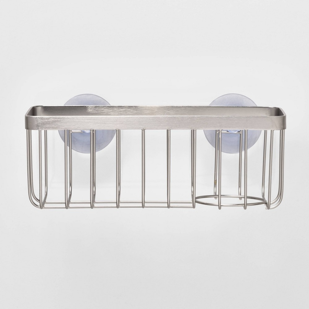 Image of Stainless Steel Large Suction Sink Caddy Silver - Made By Design