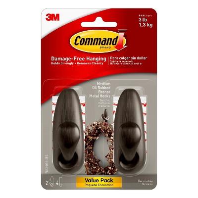 Command Medium Sized Forever Classic Hooks Value Bronze
