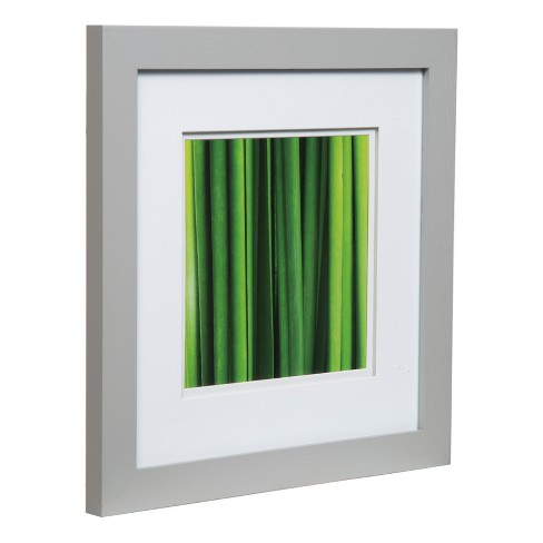 Single Image 12x12 Wide Double Mat Gray 8x8 Frame Gallery