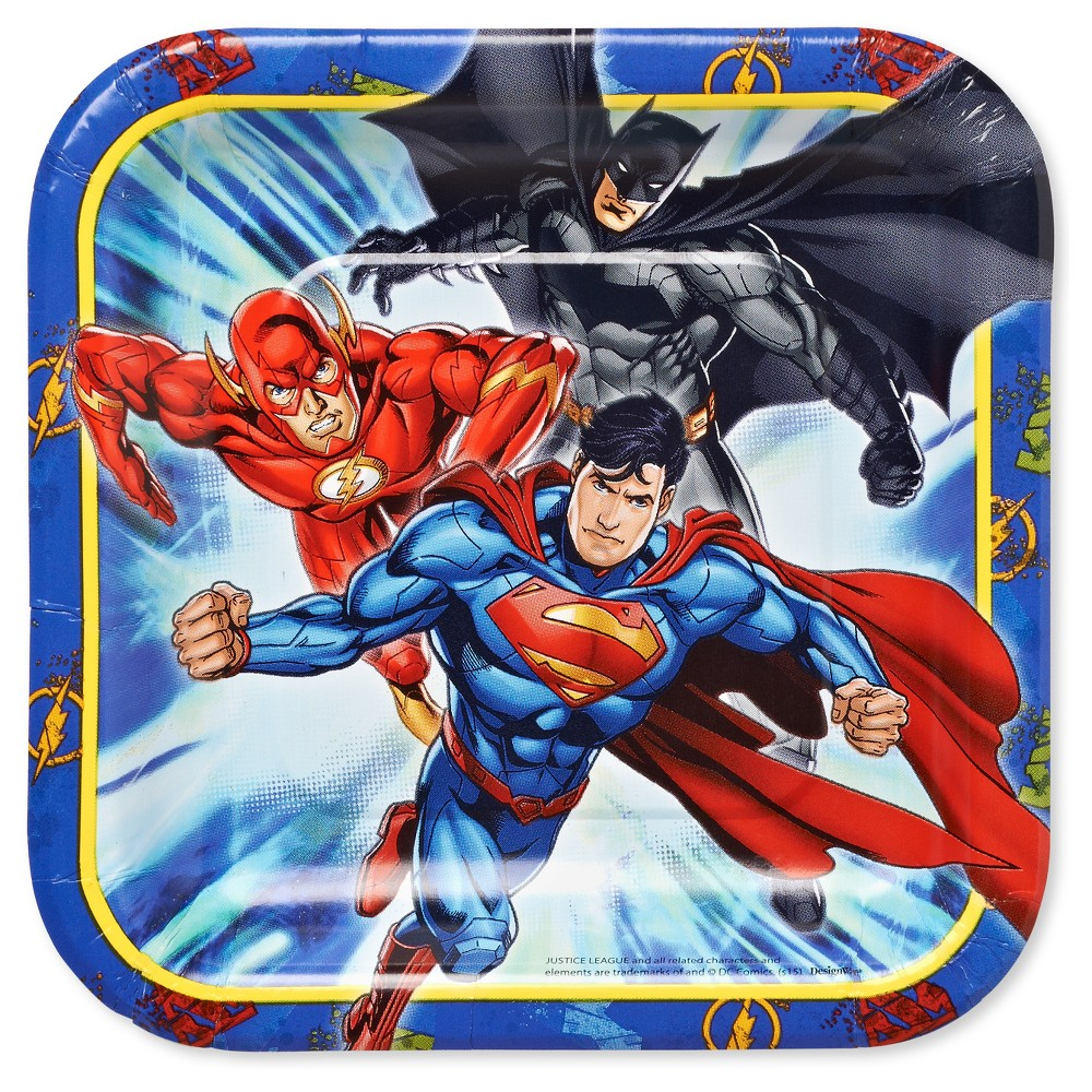 """Image of """"Justice League 7"""""""" Paper Plates - 8ct"""""""