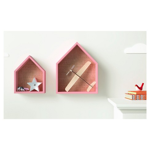 A Little Noticed Target In House Health >> 2 Pack House Shelves With Pinboard Pillowfort Target