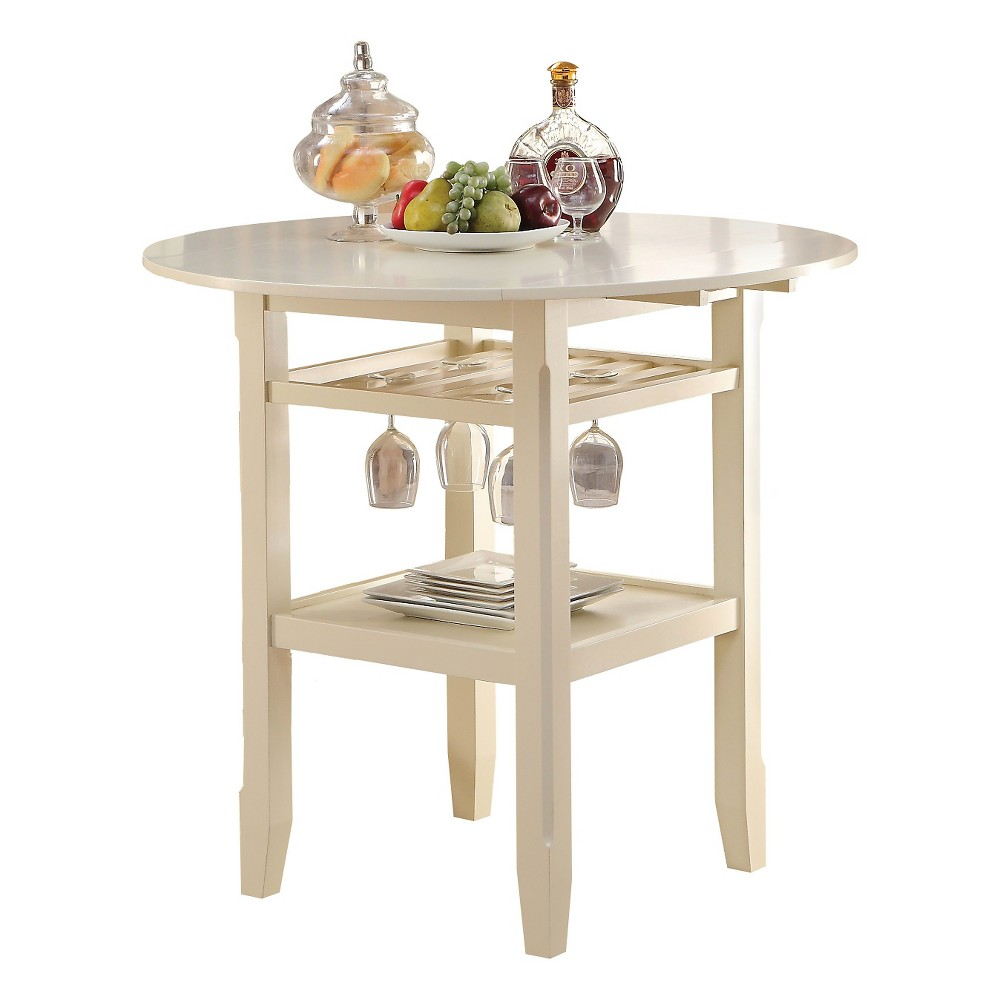Tartys Counter Height Table Wood/Cream - Acme