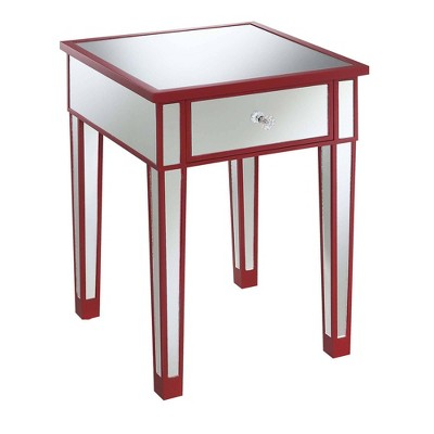 Gold Coast Mirrored End Table with Drawer - Johar Furniture