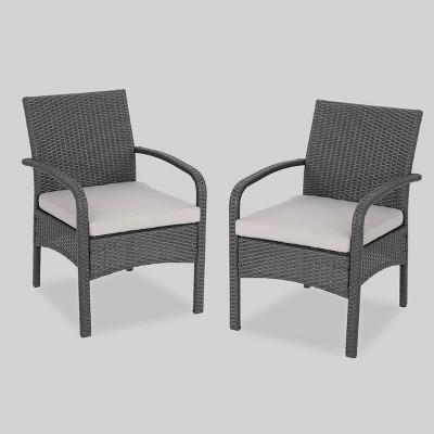 Cordoba 2pk Wicker Club Chairs - Christopher Knight Home