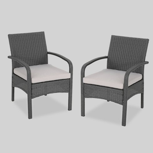Cordoba 2pk Wicker Club Chairs - Christopher Knight Home - image 1 of 4