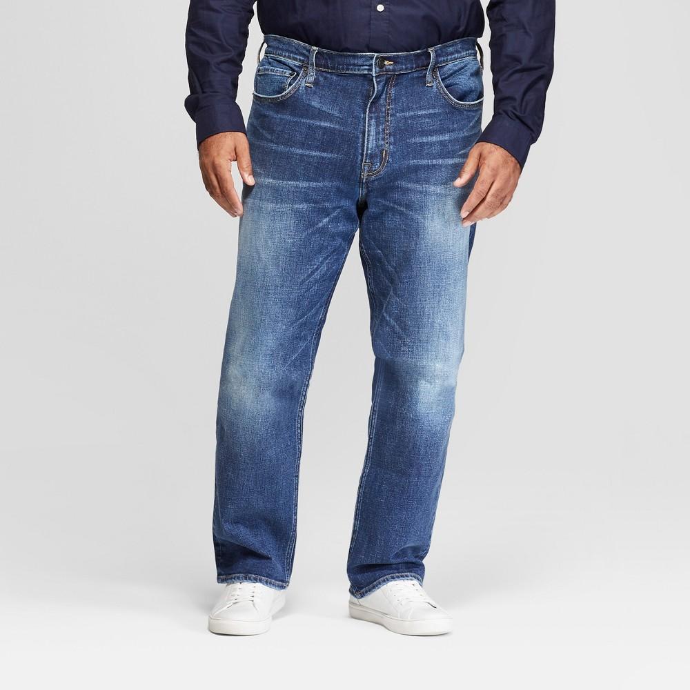 Men's Big & Tall Straight Fit Jeans - Goodfellow & Co Medium Wash 44x36, Blue