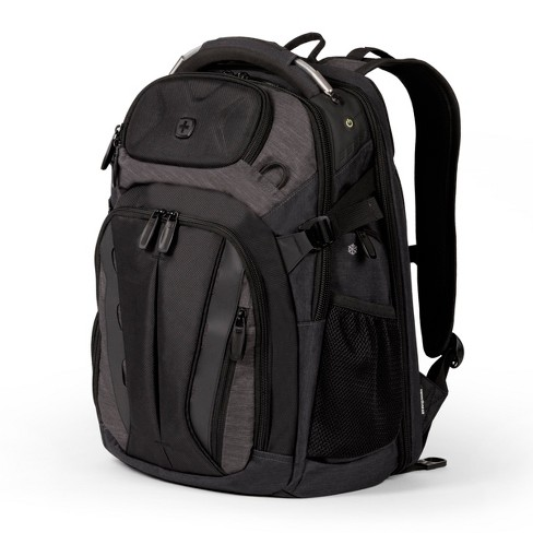 "SWISSGEAR 19"" ScanSmart TSA Laptop Backpack - Black and Heather Gray - image 1 of 9"