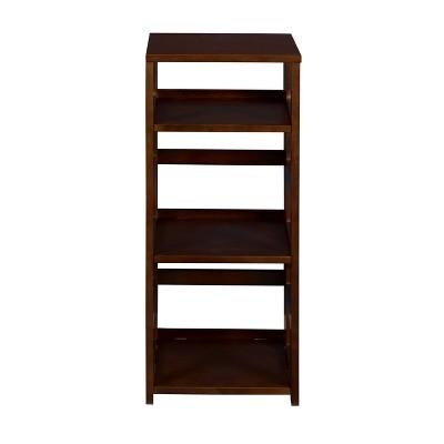 "34"" Cakewalk High Square Folding Bookcase Mocha Walnut - Regency"
