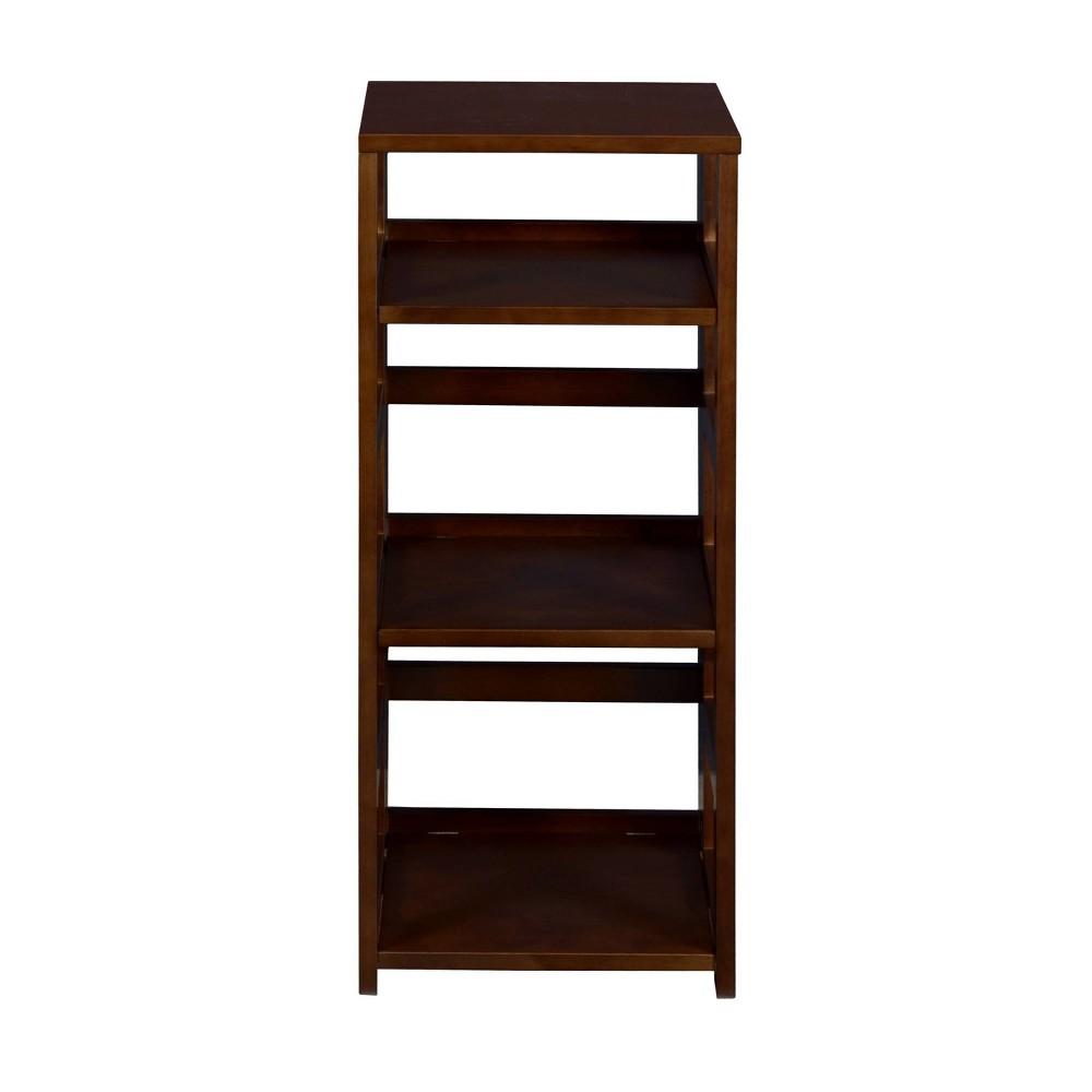 34 Cakewalk High Square Folding Bookcase Mocha Walnut - Regency