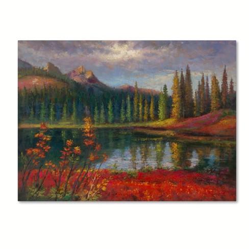 "Trademark Fine Art 32"" x 24"" Daniel Moises 'Almost Winter' Canvas Art - image 1 of 3"