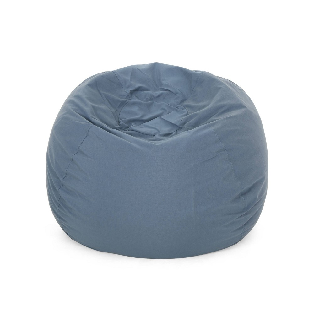 "Image of ""4.5"""" Rothrock Bean Bag Blue - Christopher Knight Home"""