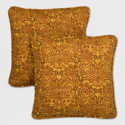 Madaga 2pk Outdoor Replacement Pillows Gold   Grand Basket by Shop This Collection