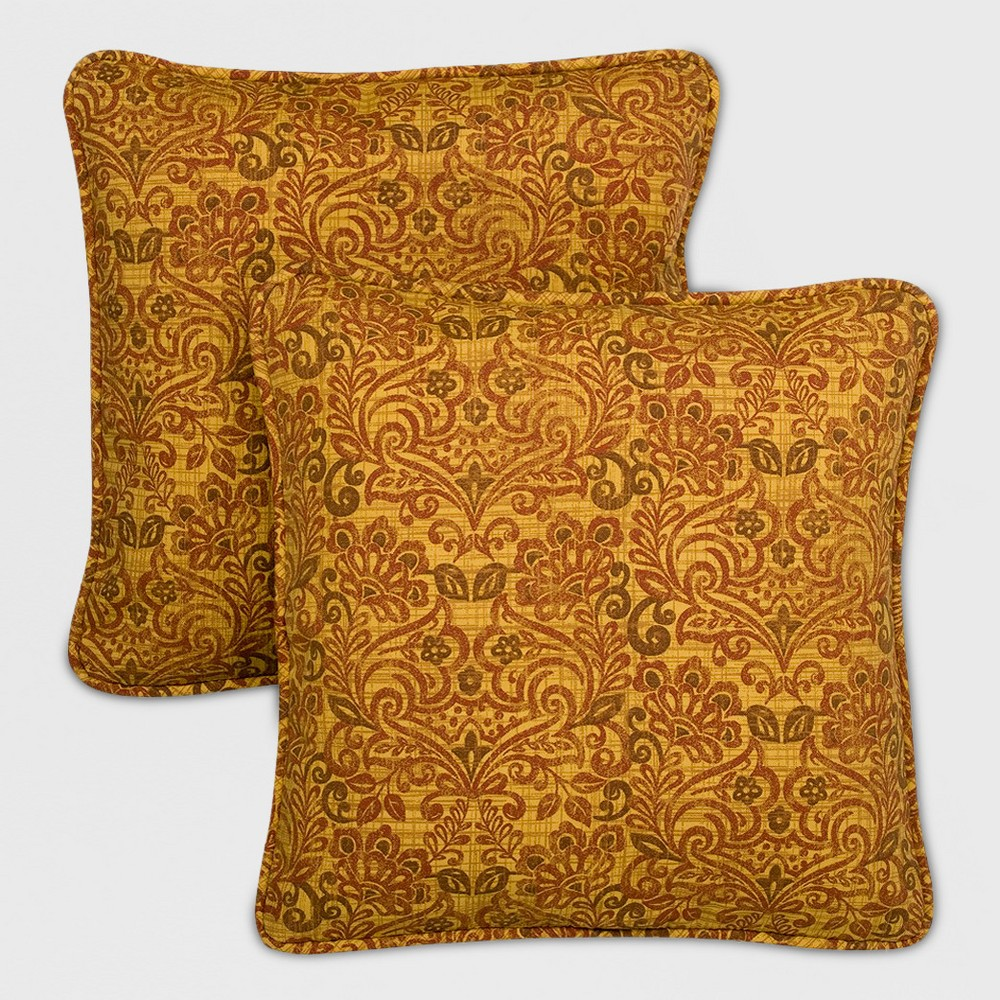 Image of Madaga 2pk Outdoor Replacement Pillows Gold - Grand Basket