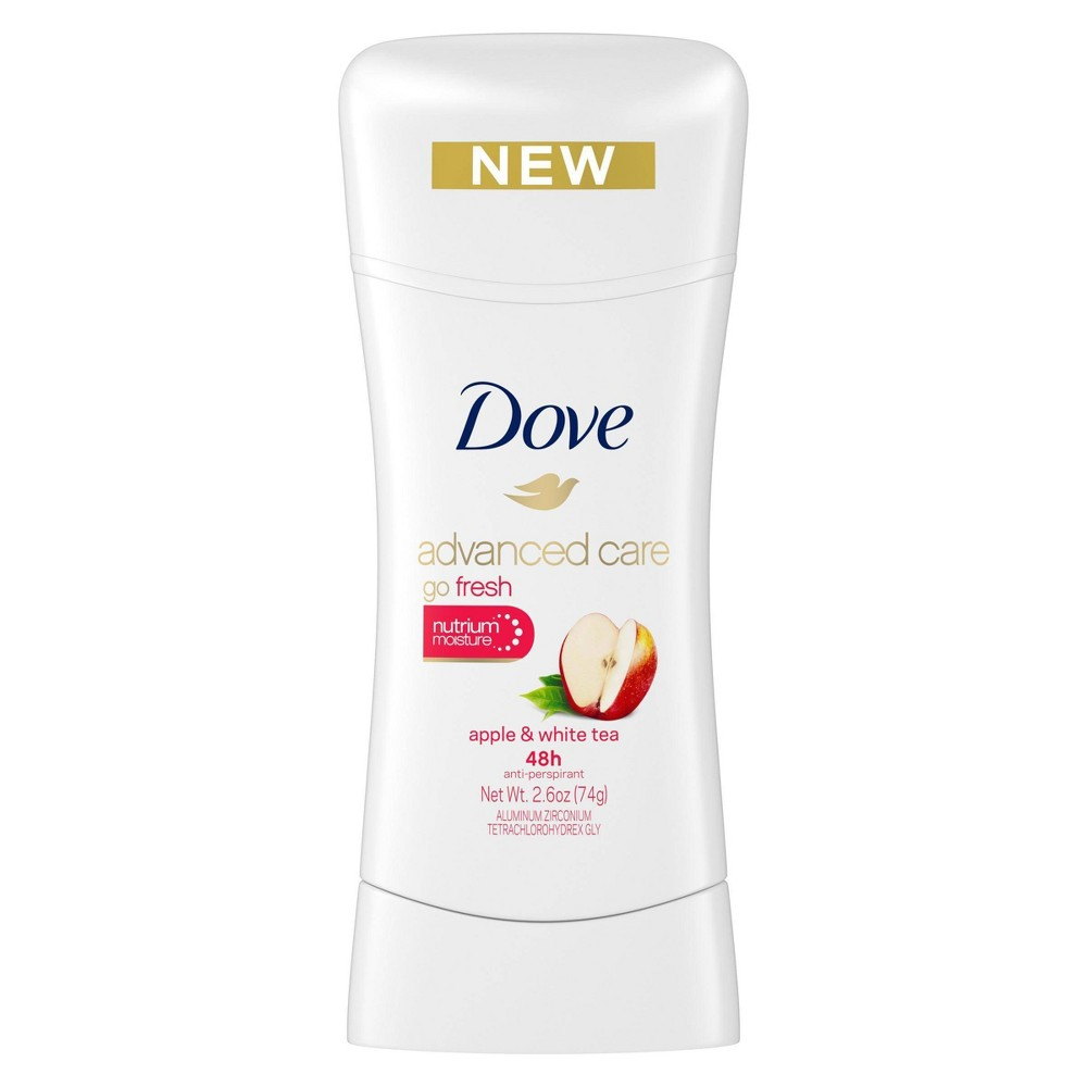 Image of Dove Advanced Care Apple & White Tea 48-Hour Invisible Antiperspirant & Deodorant Stick - 2.6oz