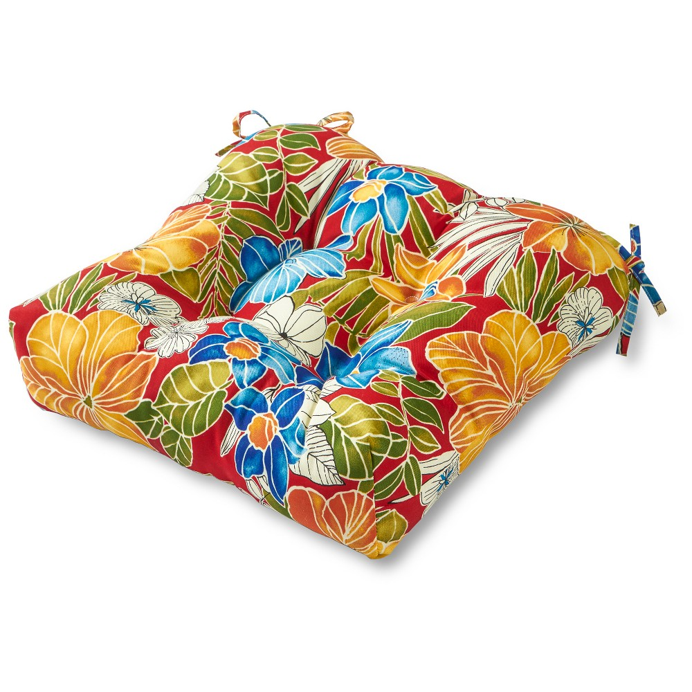 Image of Greendale Home Fashions 20 Outdoor Chair Cushion - Aloha Red
