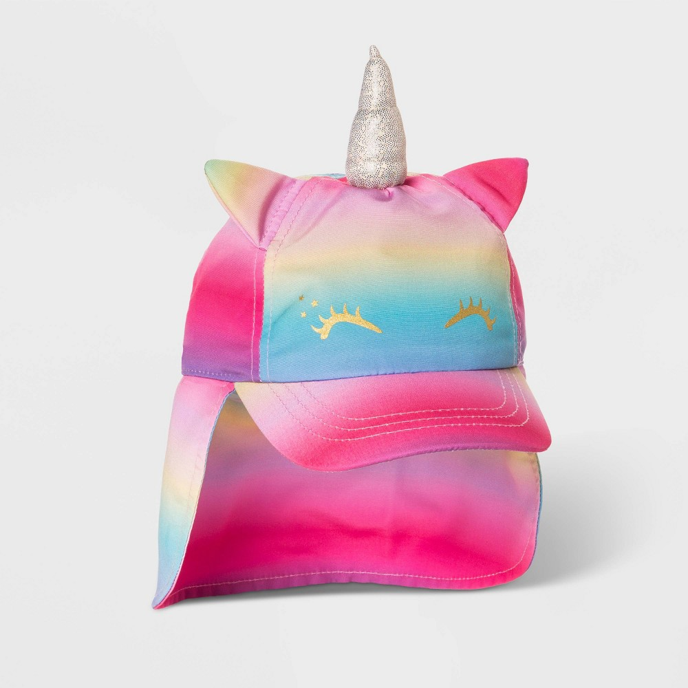 Image of Toddler Girls' Rainbow Unicorn Hat - Cat & Jack 2T-5T, Girl's, MultiColored